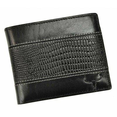 Мужское кожаное портмоне без кнопки черное Always Wild N992-VTC
