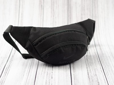 Бананка сумка на пояс поясная сумка мужская для мальчика женская черная Nike just do it