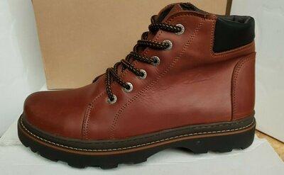 Знижка Чоловічі зимові ботинки Cat коричнеі,рижі