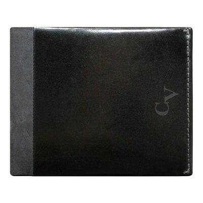 Мужское кожаное портмоне без кнопки черный Cavaldi N7-IVT