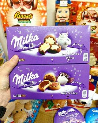 Печенье Milka в ассортименте с новогодним дизайном