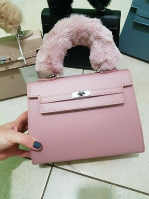 Хит 2020 Стильные сумочки с мехом,розовае,черная,голубая,беж