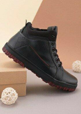 Продано: Мужские зимние черные ботинки 63227