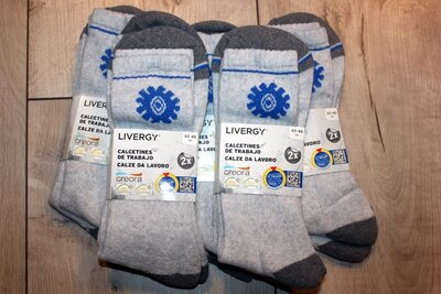 Зимние высокие мужские носки livergy Германия р 43-46