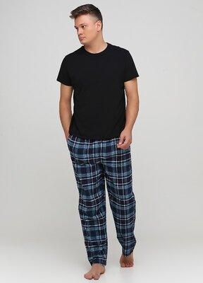 Мужские домашние штаны пижамные брюки LIVERGY® из хлопка, L