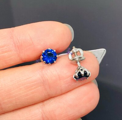 Продано: Серебряные сережки гвозди с альпинитом