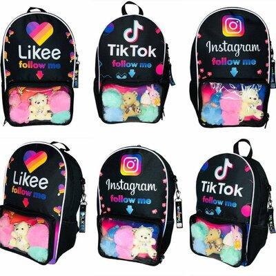 Новинка Рюкзак ранец школьный молодежный тик ток лайки Инстаграм Instagram likee tik tok