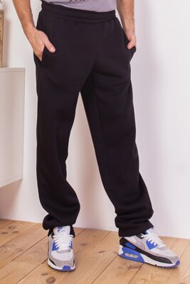 Продано: Черные утепленные штаны прямого кроя