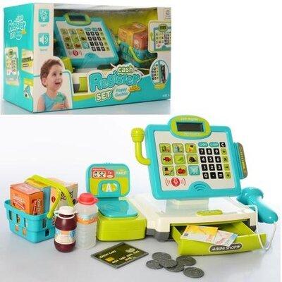 Кассовый аппарат 35578 детский, для детей, магазин, супермаркет, сканер