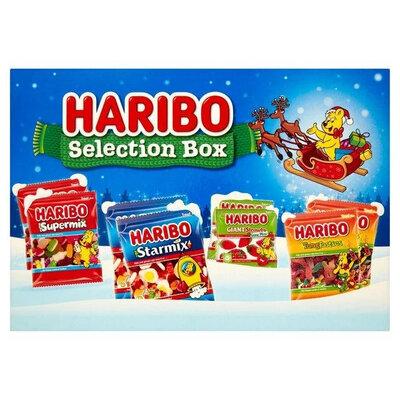 Новогодний набор Haribo Selection Box внутри жевательные конфеты в ассортименте
