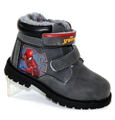 Продано: детские зимние ботинки Человек Паук 26-31р