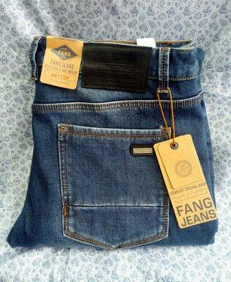 Продано: Мужские джинсы на флисе. Зауженная модель. Большие размеры
