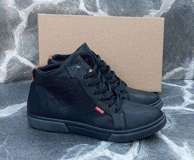 Продано: Мужские Зимние Ботинки Levis Classic черные,кожаные,с мехом