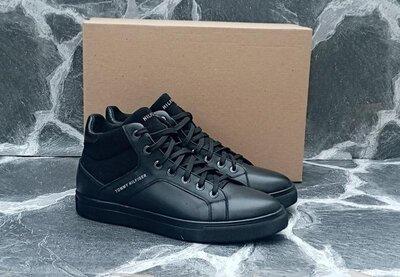 Продано: Мужские Зимние Ботинки Tommy Hilfiger черные,кожаные.зимние