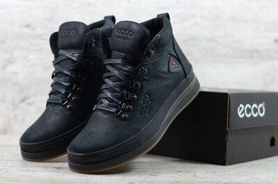 Продано: Мужские кожаные зимние ботинки Черные Ecco 63 Ecco