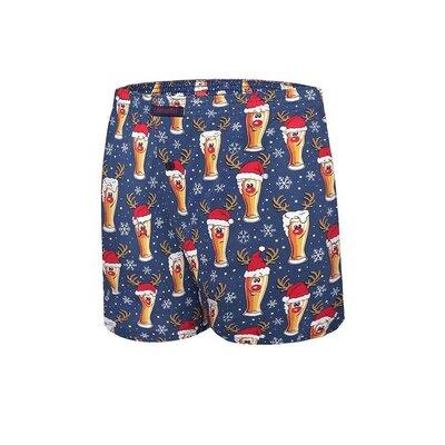 Мужские хлопковые боксеры синего цвета cornette 016/12 merry ch. beer 4