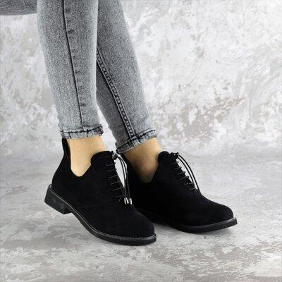 Туфли женские черные, жіночі чорні туфлі