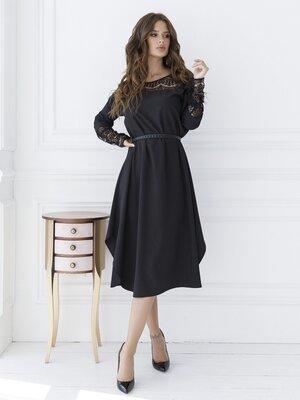 Продано: Платье-Трапеция с гипюровой вставкой