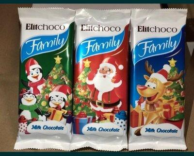 Новогодние шоколадки Elitchoco family 80г