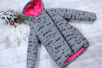 Продано: Детская зимняя теплая рефлективная светоотражающая куртка для девочки 8-12 лет