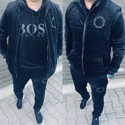 Продано: Мужской велюровый костюм 3-ка кофта жилет штаны
