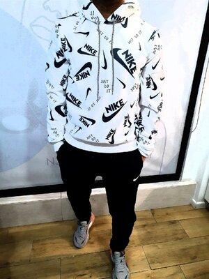 Теплый мужской костюм на флисе Nike