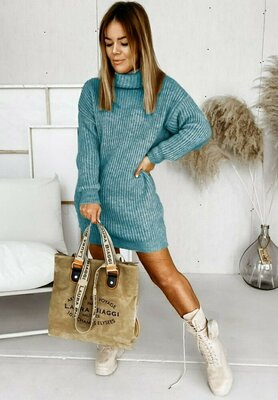 Продано: Вязаное платье -туника