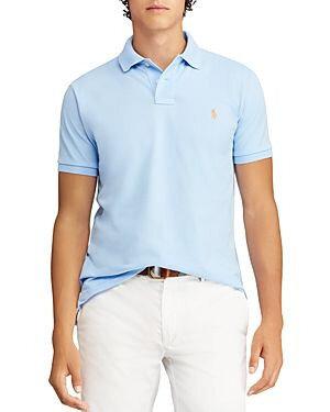 Поло мужское голубое меланжевое Polo чоловіче блакитне Тенниска Ralph Lauren Melange Ральф Лорен р.L