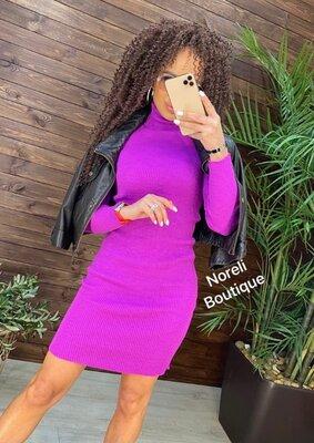 Продано: платье вязаное рубчик много расцветок