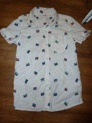 Рубашка с машинками на 7-8 лет M&Co в идеале