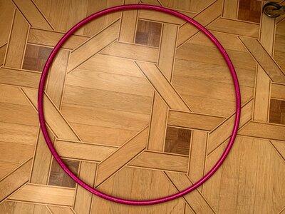 Обруч фуксия для художественной гимнастики 75 см, чехол желтый, розовый, малиновый