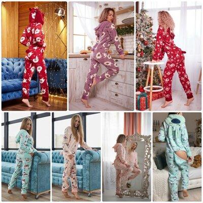 Флисовая пижама с карманом на попе попожама кигуруми кигурами S M L XL
