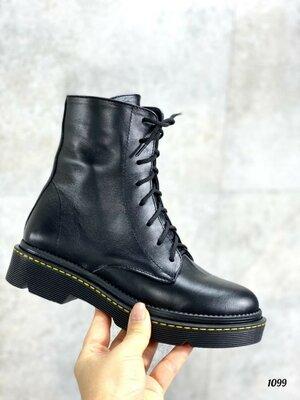 Продано: Демисезонные кожаные ботинки Мартинсы