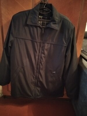 Куртка большого размера зимняя мужская чёрная