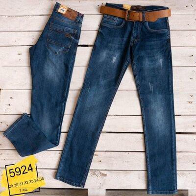 Мужские джинсы синие стрейч Blасk Lee 29,30,31,32,34,36 Турция