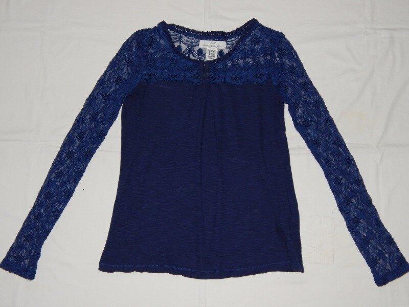 Синяя футболка H&M на девочку 10-12 лет. Рост 146-152 см.: 70 грн - футболки, майки h&m в Запорожье, объявление №27931879 Клубок (ранее Клумба)