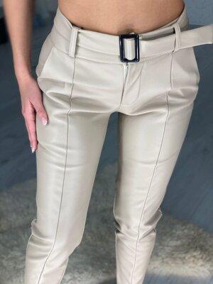 Продано: Шикарные теплые штанишки из эко-кожи