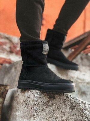 Мужские стильные зимние натуральные сапоги ботинки угги спортивные стильные классные модные теплые