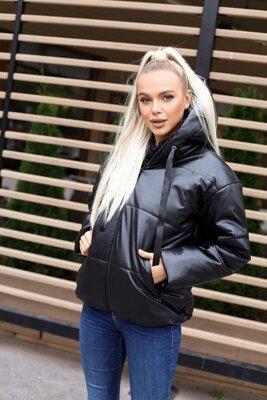 Стильная модная куртка эко кожа 3 цвета