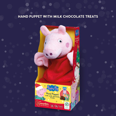 Продано: Подарочный Новогодний набор с ручной куклой Peppa Pig