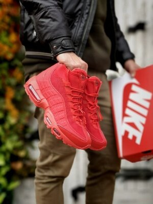 Зимние Кроссовки Nike Air Max Sneakerboot 95 Red Ааа