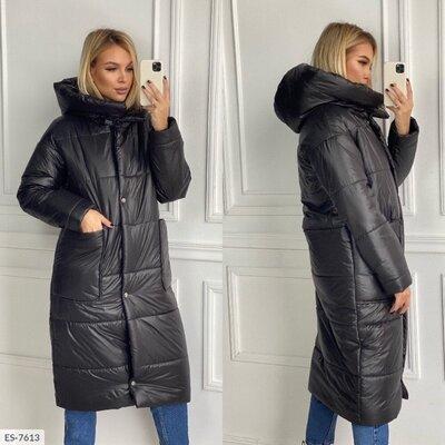Женская зимняя куртка пальто длинная