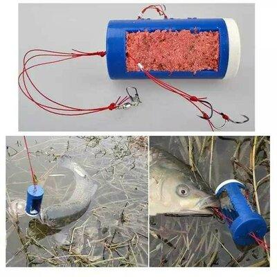 Кормушка с крючками, очень уловистая приманка, рыболовная снасть