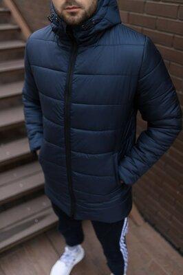 Мужская зимняя удлиненная куртка