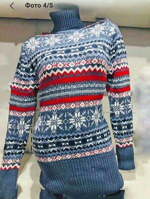 Удлиненный свитер туника Шерсть акрил Турция