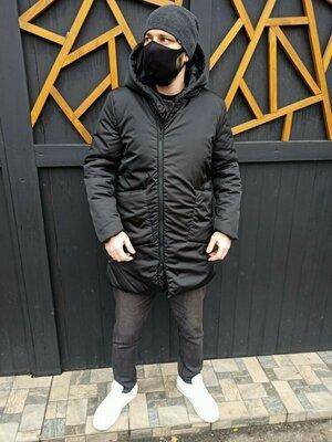 Зимняя удлиненная куртка-пальто