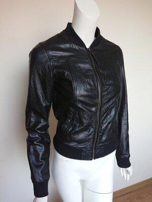Куртка косуха кожанка бомбер Pepe Jeans London размер XS-S