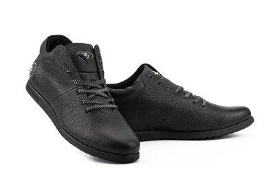 Мужские ботинки кожаные весна/осень черные Milord Olimp На Байке