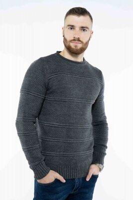 Мужской свитер в сером цвете S-XL