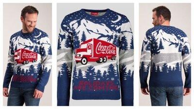 Продано: Шикарный брендовый джемпер coca cola jumper holidays
